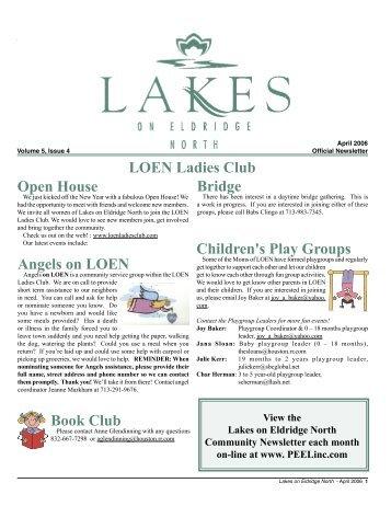 Lakes on Eldridge North LOEN Ladies Club Open House ... - Peel, Inc.