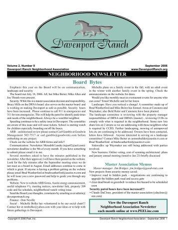 Davenport Ranch - Peel, Inc.
