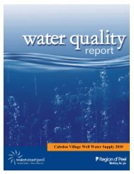 Caledon Village Well Water Supply 2010 - Region of Peel