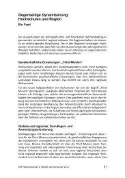 Gegenseitige Dynamisierung: Hochschulen und ... - Peer Pasternack