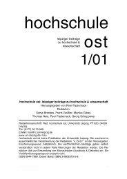 Innerdeutsche Beziehungen. Ost und West an ... - Peer Pasternack