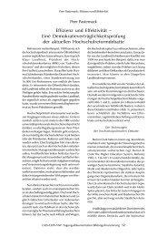 Effizienz und Effektivität – Eine ... - Peer Pasternack