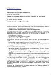 Seminarplan - Peer Pasternack