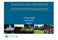 Scenarios and environmental assessments I - PEER