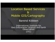 Location Based Services & Mobile GIS/Cartography - PEER