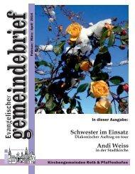 Ev. Kirchengemeinde Roth - Gemeindebrief Febr. - April 2014
