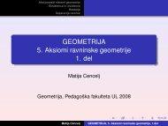 GEOMETRIJA 5. Aksiomi ravninske geometrije 1. del - Pedagoška ...