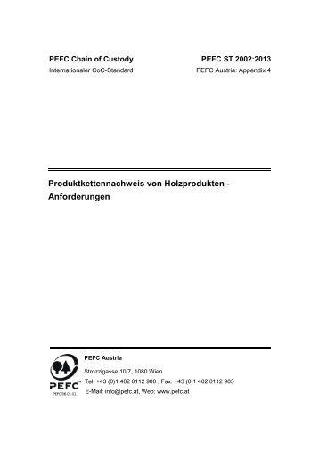 Chain of Custody 2002:2013 NEU - PEFC Austria