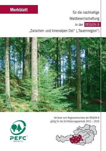 Zwischen und Innenalpen - Ost - PEFC Austria