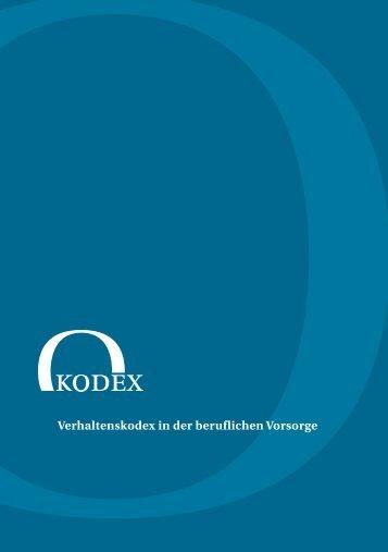 Verhaltenskodex in der beruflichen Vorsorge - PEGEBA ...