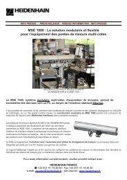 MSE 1000 : La solution modulaire et flexible ... - PEI-FRANCE.com