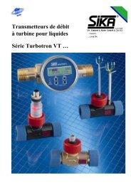 Transmetteurs de débit à turbine pour liquides Série ... - Sika