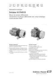 Deltabar M PMD55; (Technische Information) - PEI-FRANCE.com