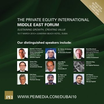 THE PRIVATE EQUITY INTERNATIONAL MIDDLE EAST FORUM ...