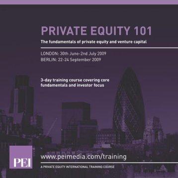 PRIVATE EQUITY 101 - PEI Media