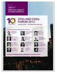 CFOs AND COOs FORUM 2013 - PEI Media