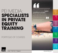 PEI MEdIa: speCialists in private equity training