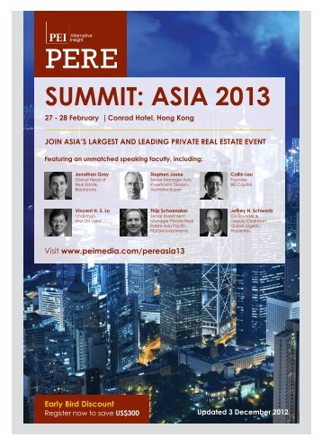 SUMMIT: ASIA 2013 - PEI Media