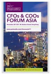 CFOs & COOs FORUM ASIA - PEI Media