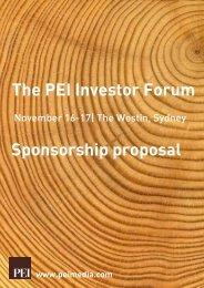 November 16-17  The Westin, Sydney - PEI Media