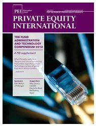 the fund administration and technology compendium 2012 - PEI Media