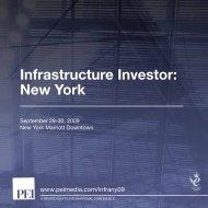 Infrastructure Investor: New York - PEI Media