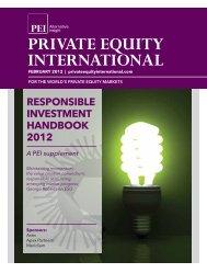 RESPONSIBLE INVESTMENT HANDBOOK 2012 - PEI Media