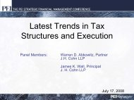 Latest Trends in Tax Structures and Execution - PEI Media