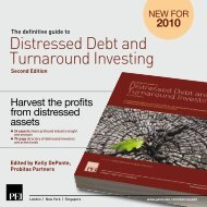 Distressed Debt and Turnaround Investing - PEI Media