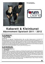 Kabarett & Kleinkunst - Peine Marketing GmbH