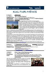 Kultur-News September 2011 - Peine Marketing GmbH