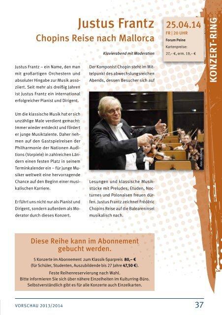 Vorschau 2013/2014 - Peine Marketing GmbH