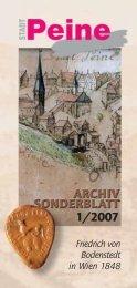 Friedrich von Bodenstedt in Wien 1848: Waffengeklirr und ... - Peine