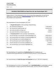 Haushaltssatzung 2013 - Peine