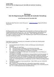 Richtlinien über die Abgrenzung der Geschäfte der ... - Peine