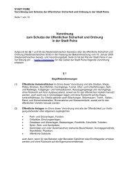 Verordnung zum Schutze der öffentlichen Sicherheit und ... - Peine