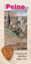 Archiv-Sonderblatt 3/2004 - Peine