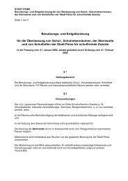 Benutzungs- und Entgeltordnung für die Überlassung von ... - Peine