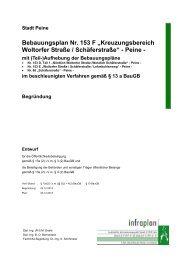 """Bebauungsplan Nr. 153 F """"Kreuzungsbereich Woltorfer ... - Peine"""