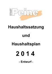 Haushaltsplanentwurf 2014 - Peine