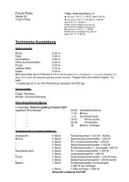Technische Ausstattung - Peine Marketing GmbH