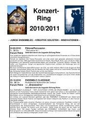 Konzert- Ring 2010/2011 - Peine Marketing GmbH