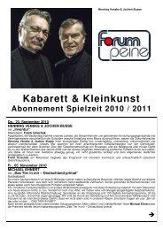 Kabarett & Kleinkunst - Peine Marketing GmbH