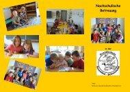 """Flyer """"Nachschulische Betreuung"""" - Peine Marketing GmbH"""