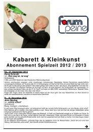 Kabarett & Kleinkunst 2012/13 - Peine Marketing GmbH
