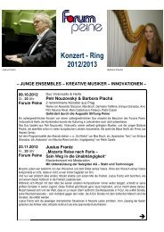 Konzert - Ring 2012/2013 - Peine Marketing GmbH