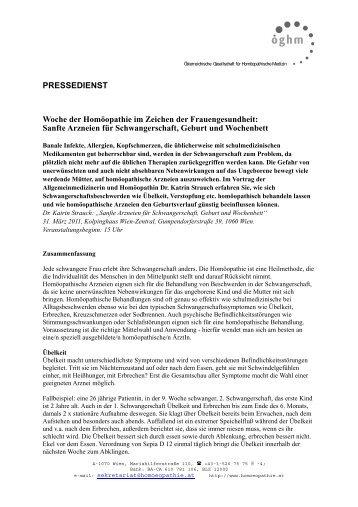 Sanfte Arzneien für Schwangerschaft, Geburt und ... - Peithner