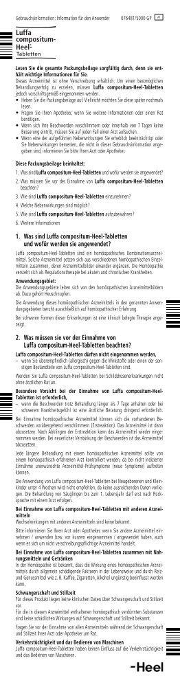 Luffa compositum- Heel®- - Dr. Peithner KG