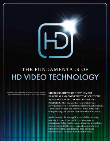 The Fundamentals of HD Video Technology (PDF file, 376 KB) - Pelco