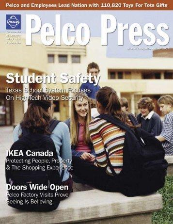 Press Release Winter 2003 - Pelco